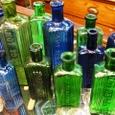 レア アンティークボトル グリーン・ブルー